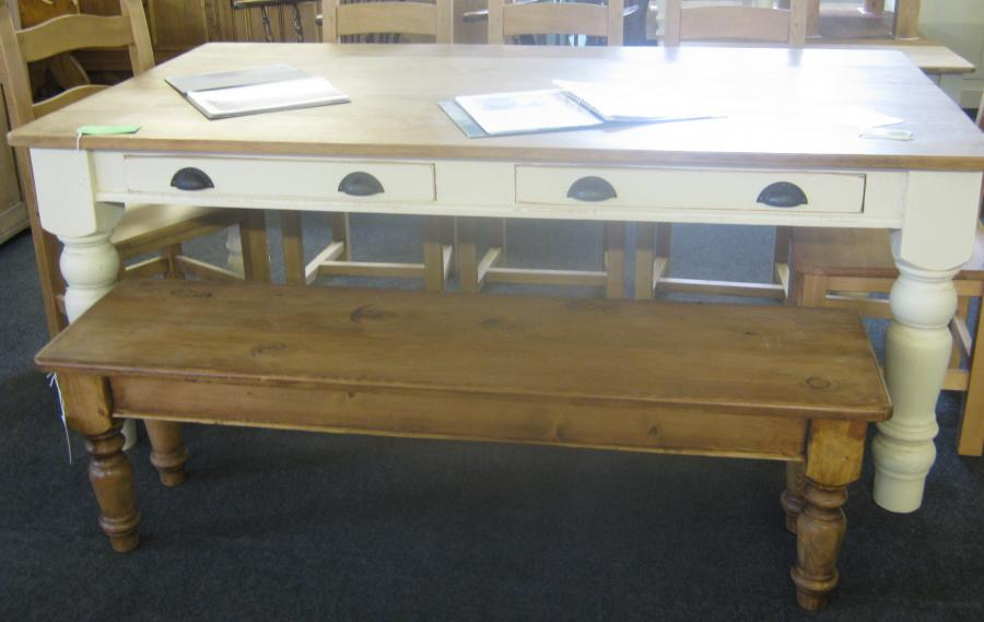 Reclaimed pine tables