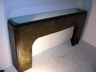 Galvanised console table