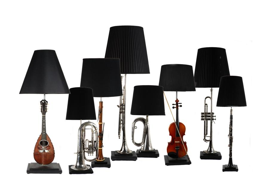Recrafted lighting from Musical Memorabilia