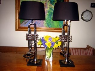 Pair of Trumpet table lamps © Antiques By Design