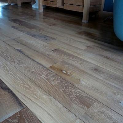 Plancher Parquet large vieux chêne - Wide antique oak flooring