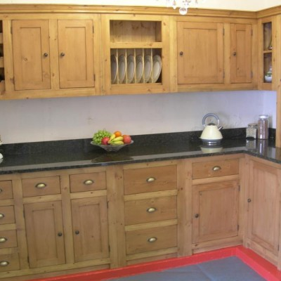 Hand-made reclaimed pine waxed or painted kitchens