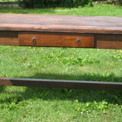 Oak And Pine Farmhouse Table Refectory Style Reclaimed Wood