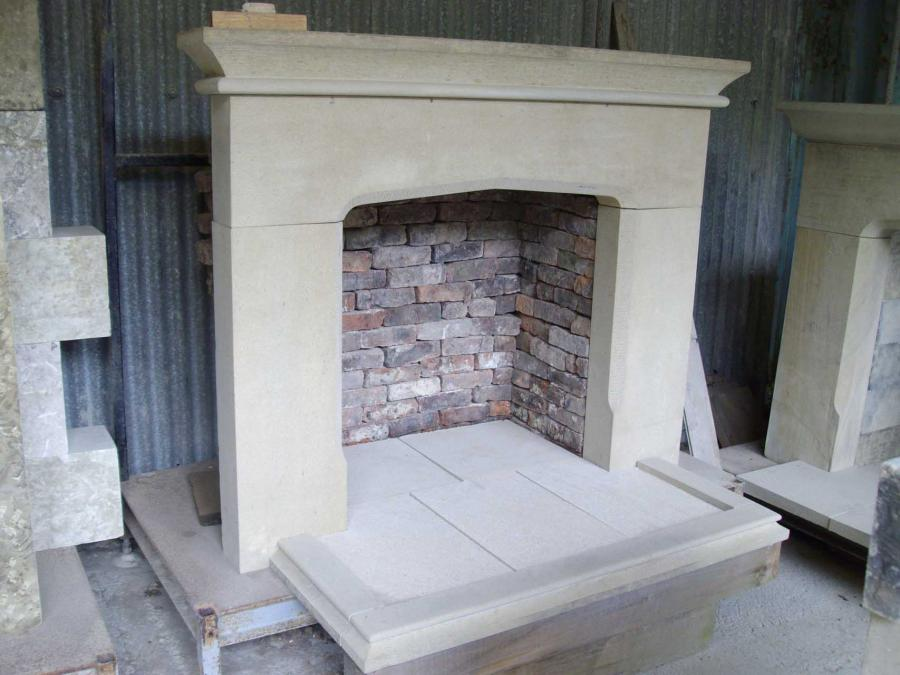 Recraft Upcycled Stone Smooth Face Fire Surround Back