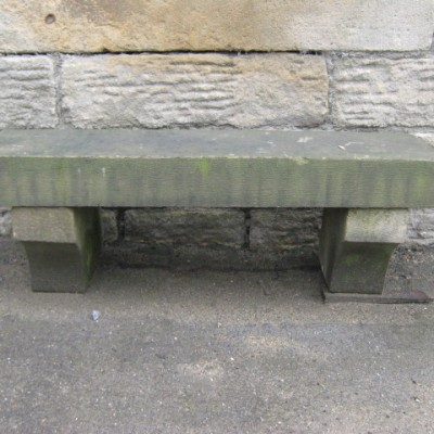 Small stone bench seat