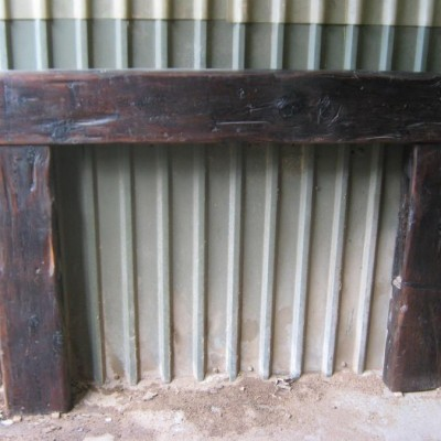 Timber fire place surround (reclaimed timber)