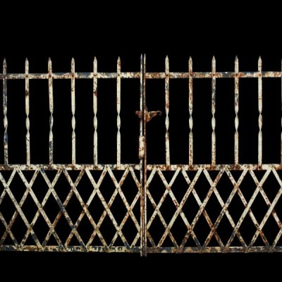 A pair of wrought iron gates c. 1900