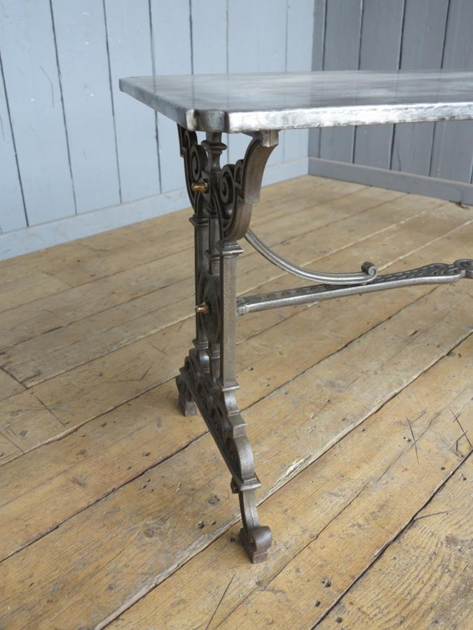 Coalbrookdale Cast Iron Table with Zinc Top
