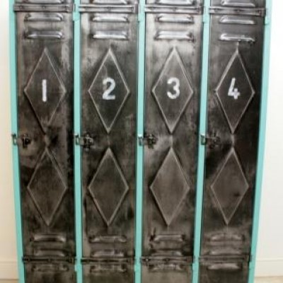 French Vintage Industrial Lockers