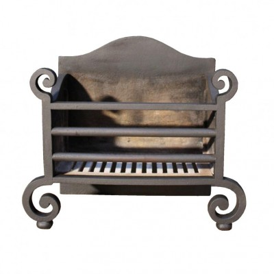 A reclaimed cast iron fire grate