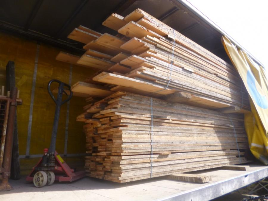 "Re-sawn pine Victorian floorboards boards 7"" wide"