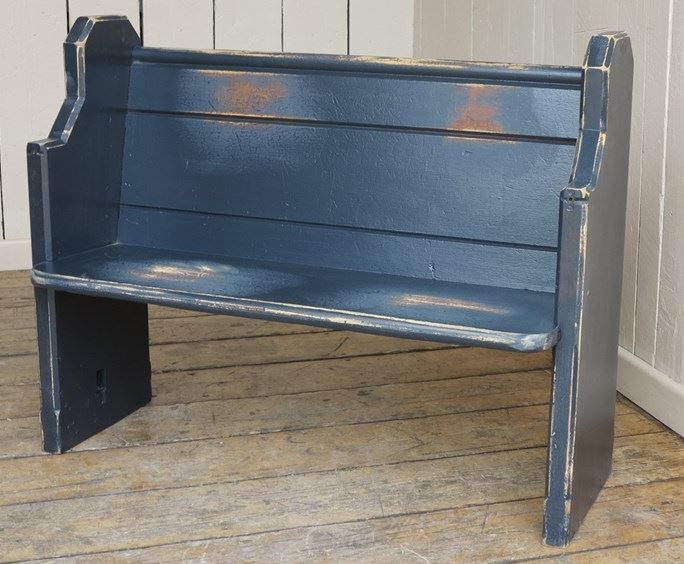 Reclaimed Pitch Pine Painted Antique Church/Chapel Pew