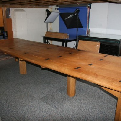 Solid Oak Refectory, Dining or Boardroom Table by David Savage