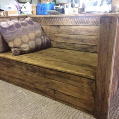 Rustic garden bench