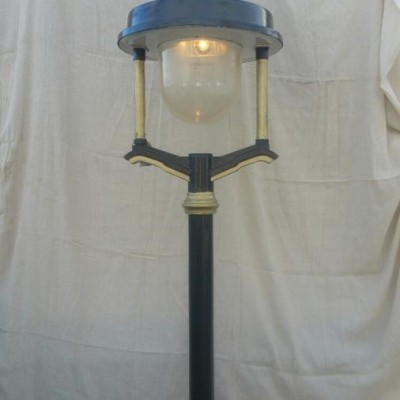 Up Cycled Large Grey Wornum Lamps on Posts