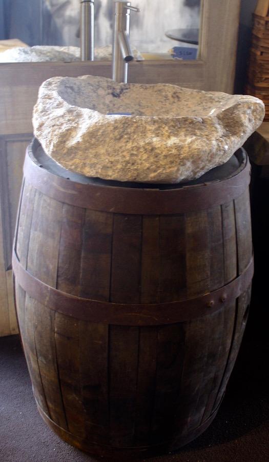 Granite Rocksink with Barrel