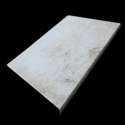 14 meters of reclaimed Carrara marble bull nose steps