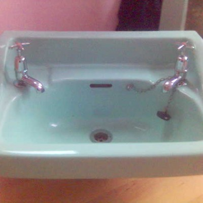 Art Deco Sink/Basin & Pedestal