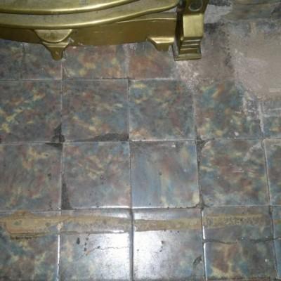 1930 Fireplace surround tiles - Green mottled effect