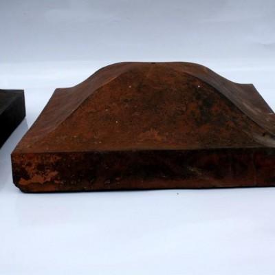 Terracotta pier cap/s for brick-and-half pillar/s (approx 390mm)