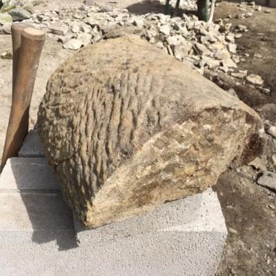 Half round gritstone copings