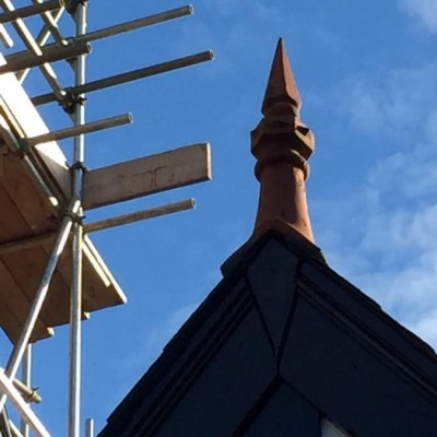 clay roof finial