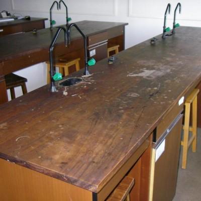 Reclaimed Iroko / Teak School Science Laboratory Worktops WANTED