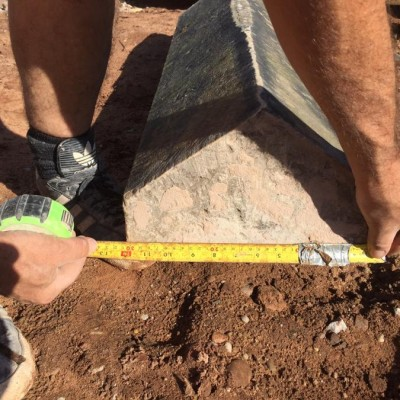Triangular Reclaimed Coping Stone