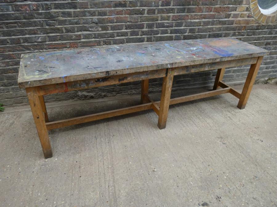 for sale beech work tables salvoweb uk. Black Bedroom Furniture Sets. Home Design Ideas
