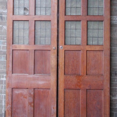 Hardwood part glazed door