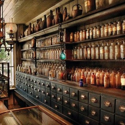 apothecary shop fixtures and fittings