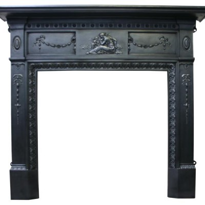 Neoclassical cast iron surround