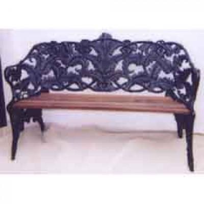 Coalbrookdale-style Victorian cast iron Garden Seat