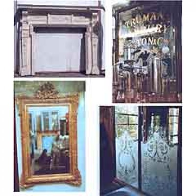 Edwardian fire suround and mirrors