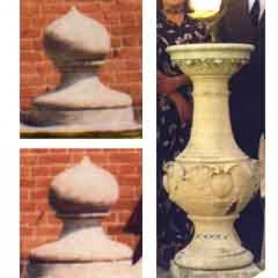 Sundial and finials
