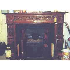 Victorian Red fireplace