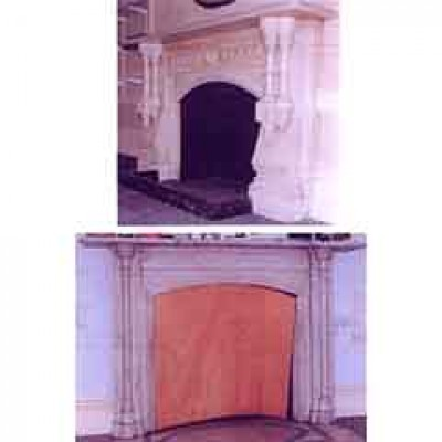 TWO MARBLE FIRE SURROUNDS