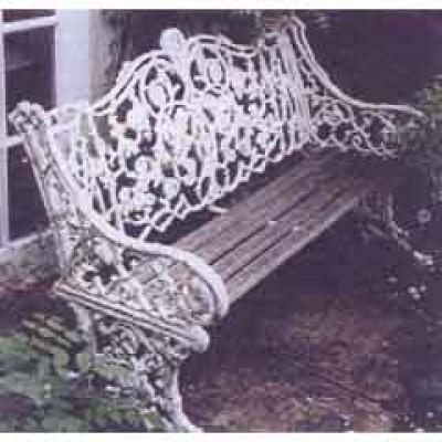 COALBROOKDALE 'RUSTIC' CAST IRON GARDEN SEAT