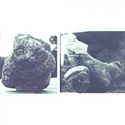 TWO OLD STONE SCULPTURES STOLEN