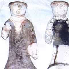 FIVE CHINESE TOMB FIGURES