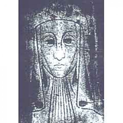 INCISED BRASS EFFIGY OF A MEDIEVAL LADY