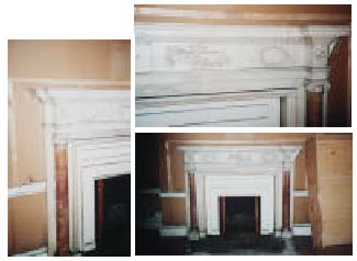 Six marble chimneypieces: Part 1