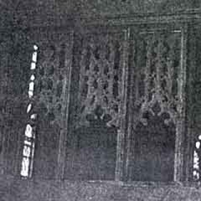 Carved panel from a medieval rood screen