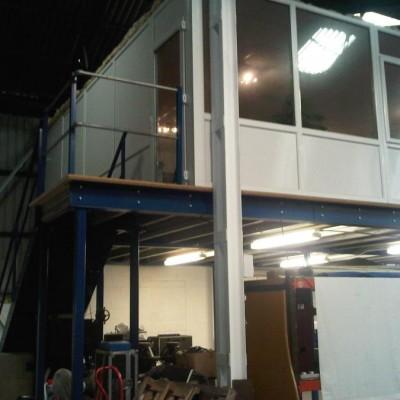 Used Mezzanine Floor system with uPVC office.