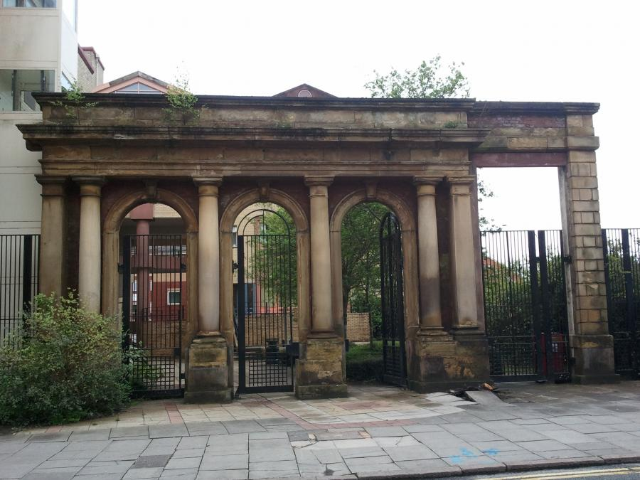 Former Church Entrance Wall - Oldham, Manchester