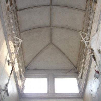 Skylight lead roof lantern, size approx 2.3m x1.3m with fittings