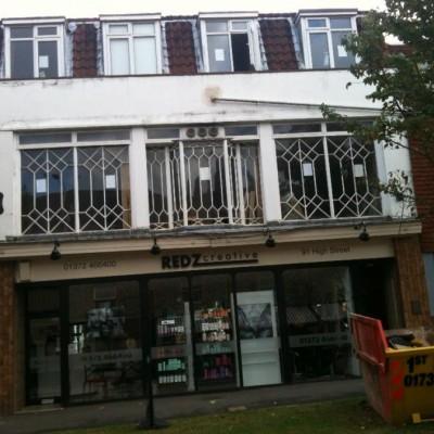 Large Victorian Windows with geometric panels