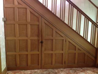 1950's Oak Staircase, Panelling and Doors
