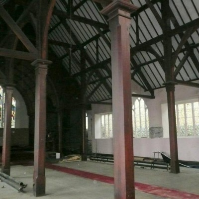 Timber arcade roof structure