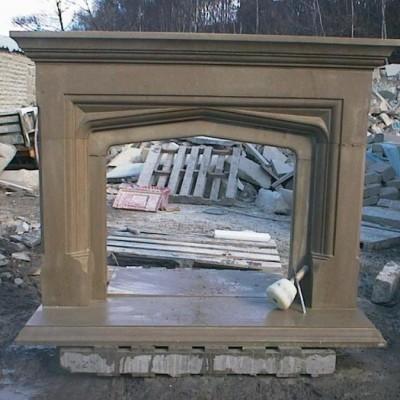 Yorkshire Sandstone Hand Carved Fireplace